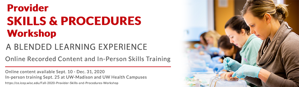 Provider Skills and Procedures Workshop Save the Date Banner