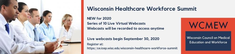 Wisconsin Healthcare Workforce Summit Save The Date Banner with link