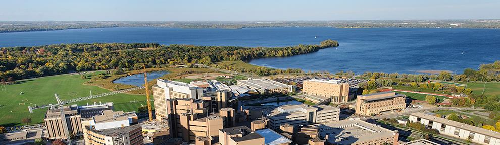 Aerial view of UW campus